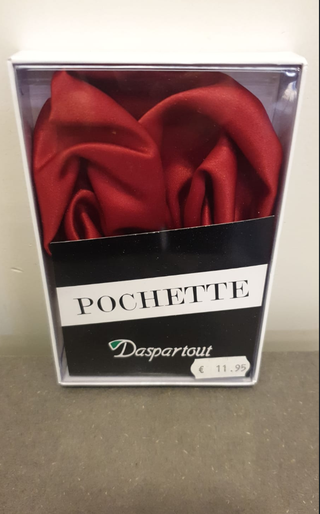 POLYESTER HANDKERCHIEF BORDEAUX RED