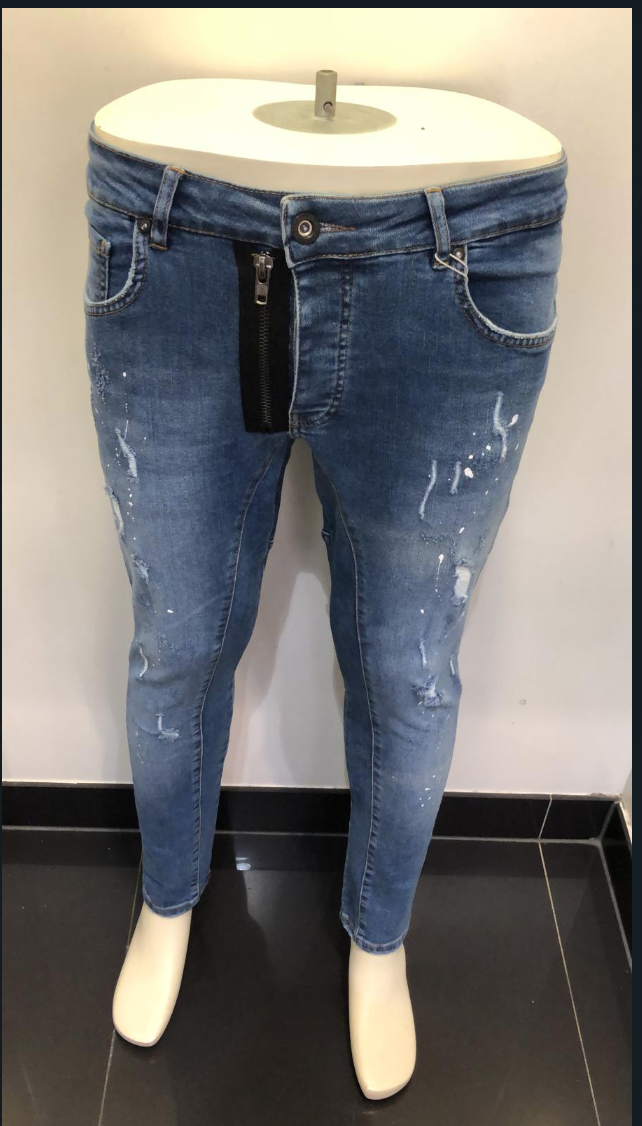 MOSC JEANS WITH ZIPPER BLUE