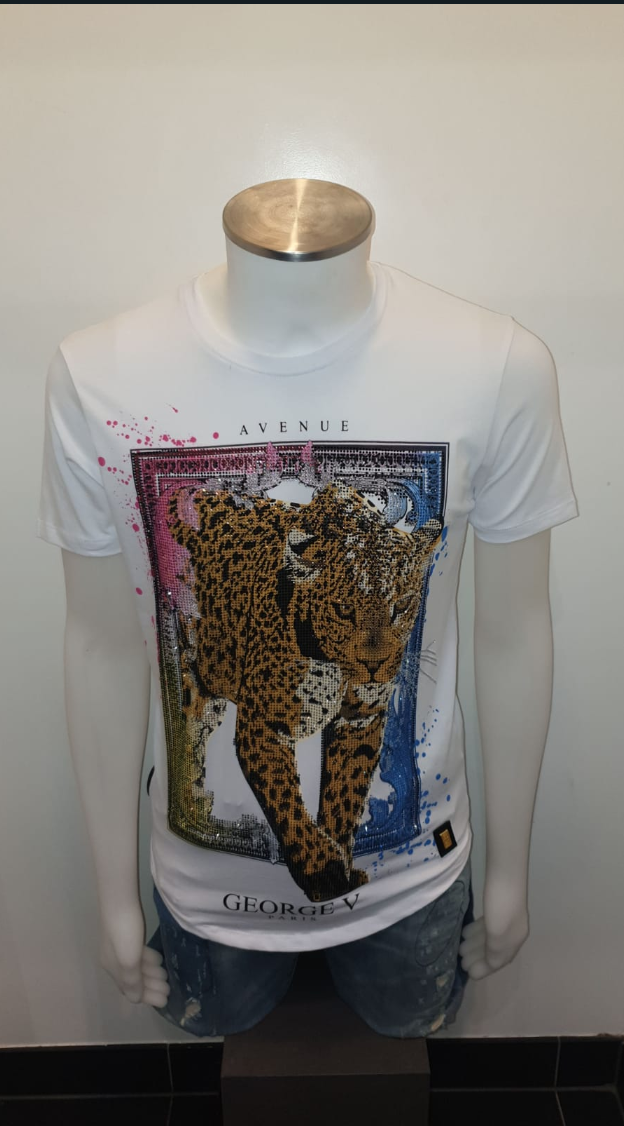 GEORGE V PARIS T-SHIRT WHITE & BLACK