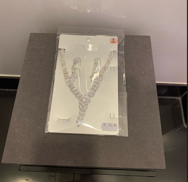 NECKLACE WITH EARRINGS PARIS SILVER