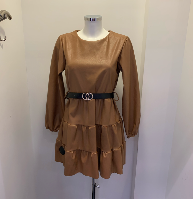 DRESS PARIS BROWN