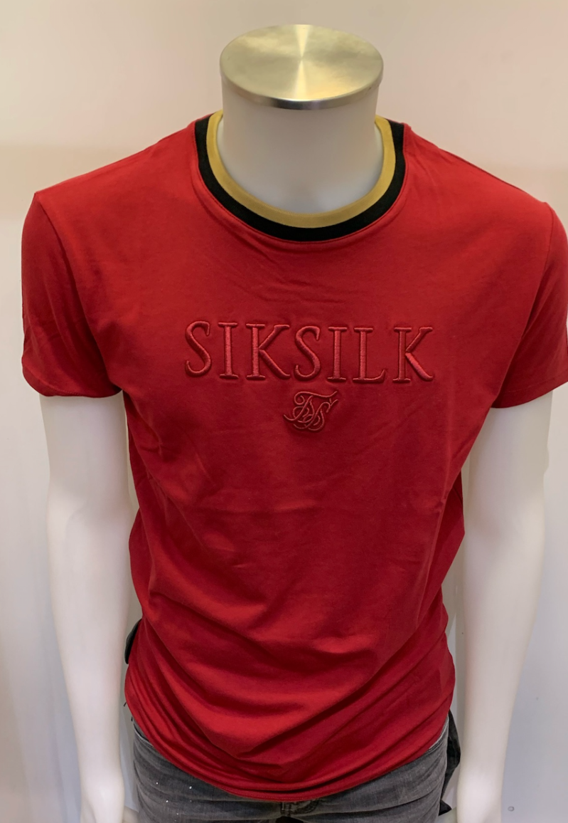 SIK SILK T-SHIRT RED