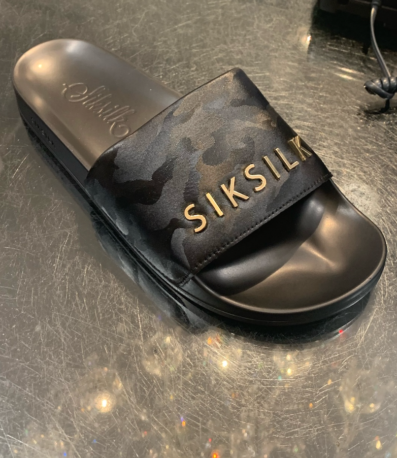 SIK SILK SLIPPERS ARMY BLUE/GOLD