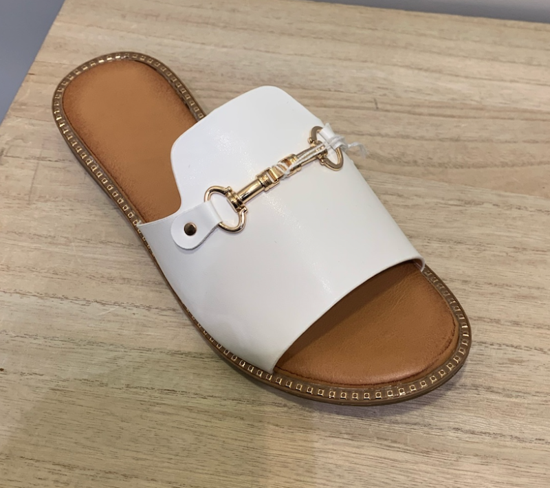 SLIPPERS PARIS WHITE/GOLD