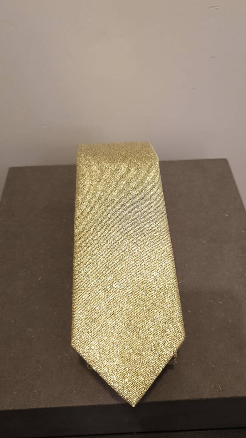 POLYESTER GLITTER TIE IN 4 DIFFERENT COLORS