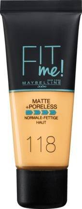 Maybelline Foundation Matte Fit Me 118
