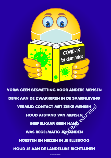Poster: 'Covid-19 voor dummies' - A3
