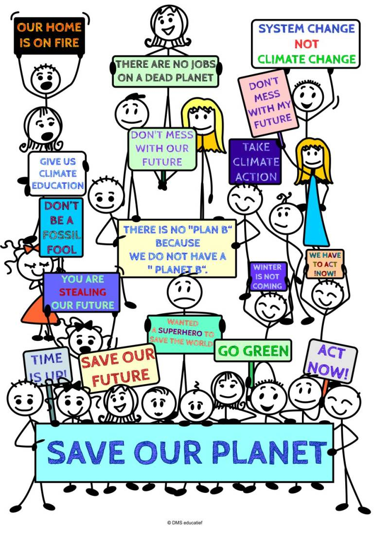 """Klimaat poster: There is no """"Plan B"""" because we do not have a """"Planet B"""""""