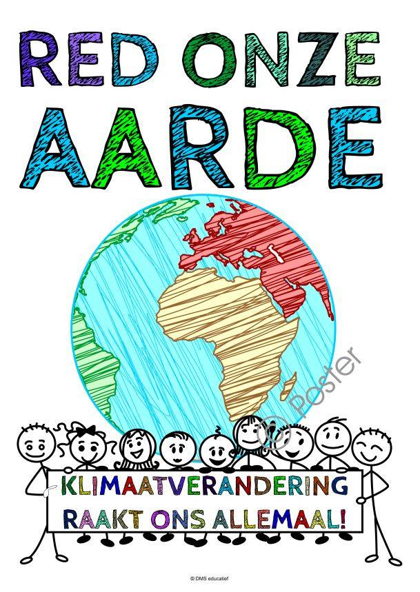 Poster 'Red onze aarde' A3