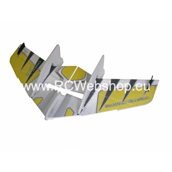 RC-Factory Crack Wing F04 Yellow 750mm span EPP kit **
