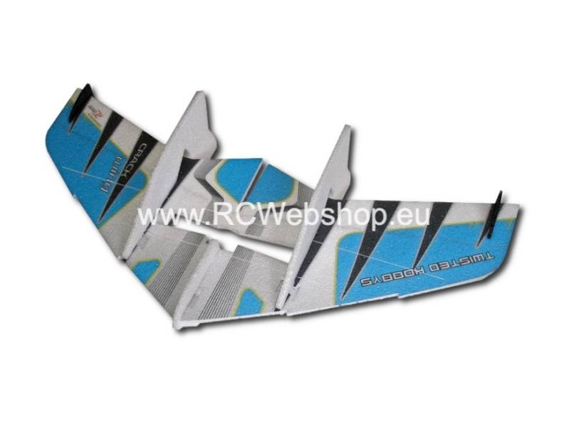 RC-Factory Crack Wing F02 Blue 750mm span EPP kit *