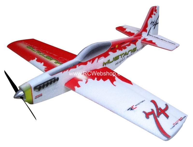 RC-Factory Mustang Pylonracer TR01 Red 780mm span EPP kit *