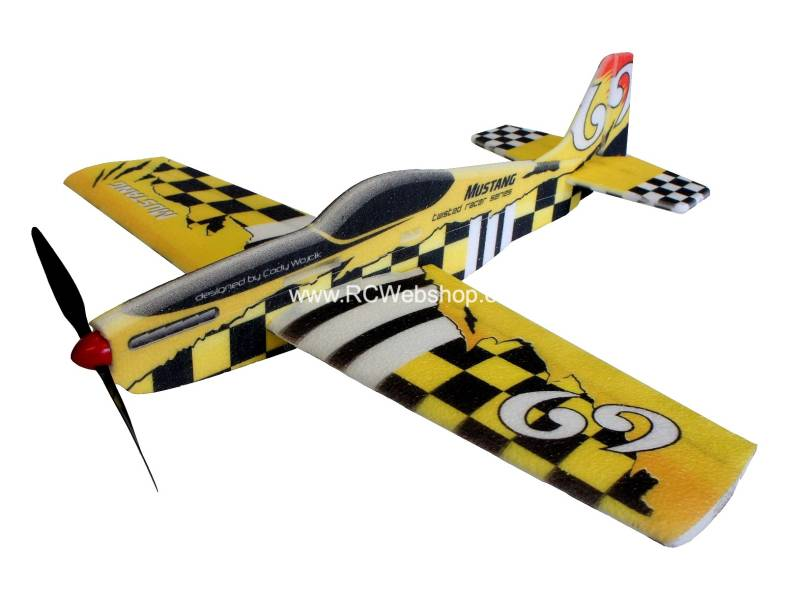 RC-Factory Mustang Pylonracer TR02 Yellow 780mm span EPP kit *