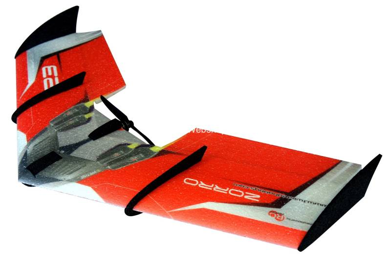 RC-Factory Zorro Wing F09 Red 900mm span EPP kit *