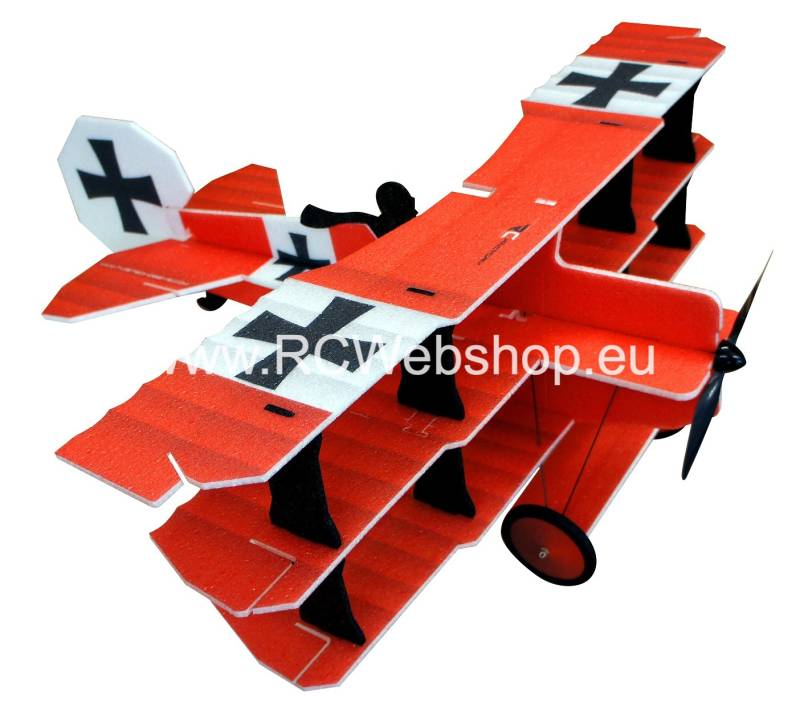 RC-Factory  Crack Fokker Dr. I Tri-plane L12 Red Baron 890mm span EPP kit *