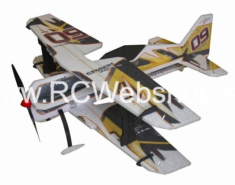 RC-Factory Crack PITTS (Backyard Series) B12 Yellow 755mm span Bi-plane EPP kit *