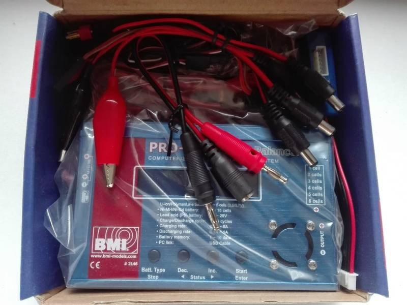 TER REVIEW : Charger / balancer 12V DC incl memory new (in box) also for LIPO 1-6S / 5A: