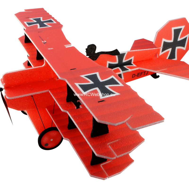 RC-Factory Lil Fokker Tri-plane M10 Red Baron 680mm span EPP kit *
