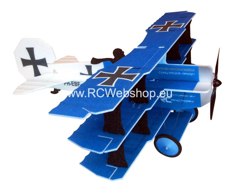 RC-Factory  Crack Fokker Dr. I Tri-plane L10 Blue 890mm span EPP kit *
