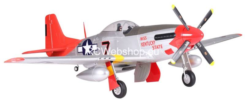 FMS Plane 1700mm P51D (Red) PNP kit Mustang P-51D red tail Warbird FMS041R