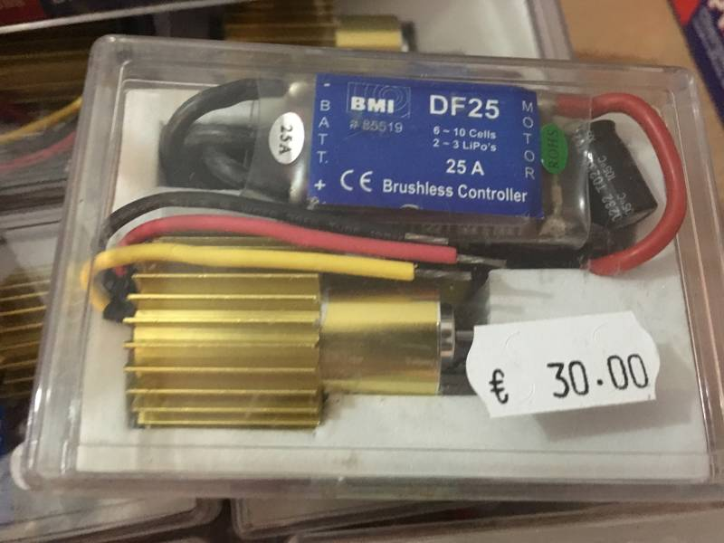 Brushless motor Combo set DF (for Ducted Fan) 3900 + ESC (regler) 25A DF25 (EUR 10 ps when ordering 10 pcs)
