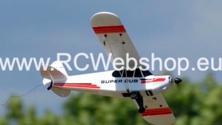 Super J-3 Cub PA-18 4CH RC Airplane - 2.4GHZ - incl transmitter RTF / Ready to fly / vliegklaar / Flugbereit