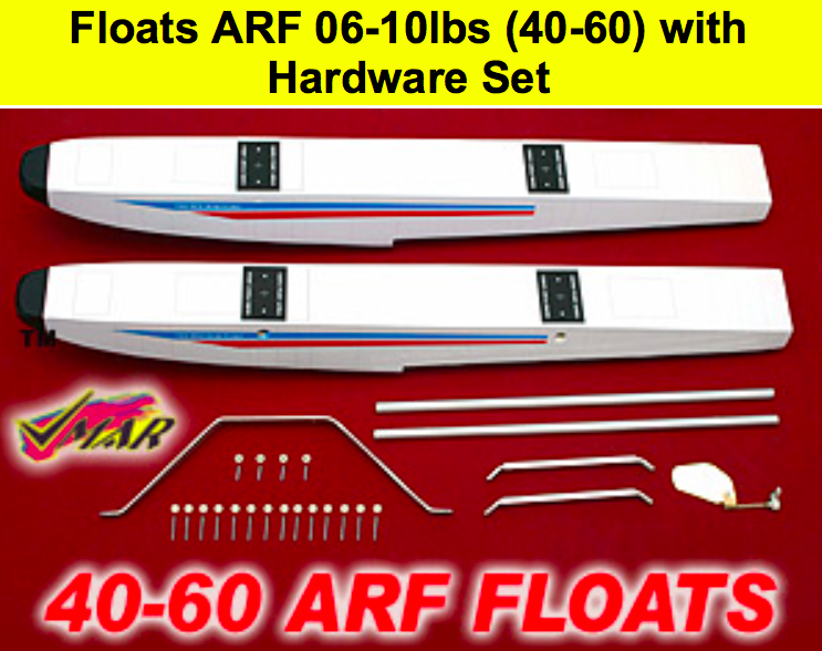Set floats for seaplane 2.5-4.5 kg / 889mm color : White / drijvers watervliegtuig