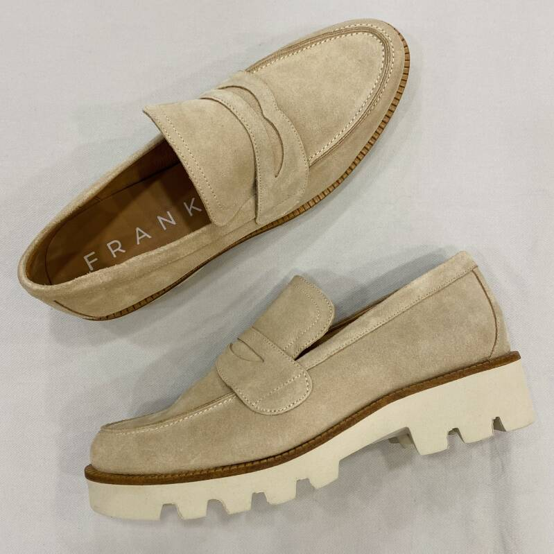 Frank suede loafer zand