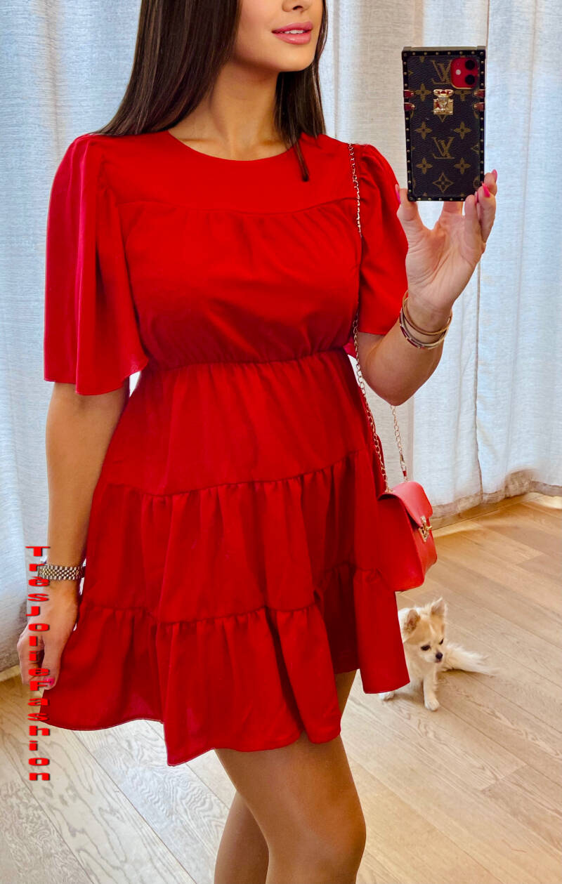 Kleed Red Fashion