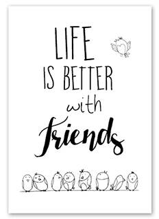 Wenskaart - Life is better with friends