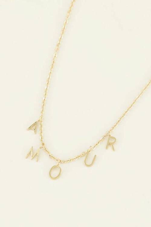 Ketting losse letters amour