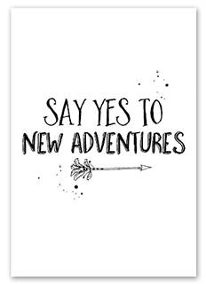 Ansichtkaart - Say yes to new adventures