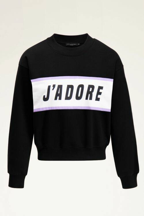 Zwarte sweater j'adore