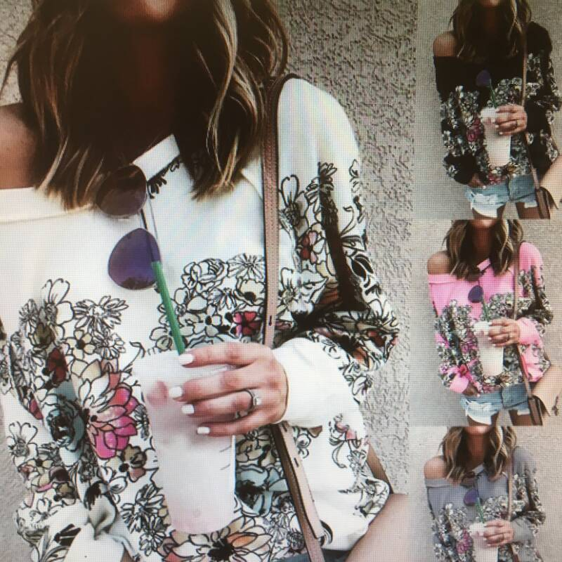 PULLOVER FLORAL PRINTED