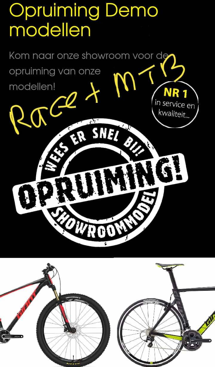 Opruiming Race en MTB modellen!