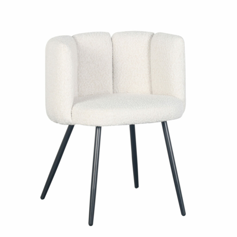 High Five Chair White Pearl (Boucle) | Pole to Pole