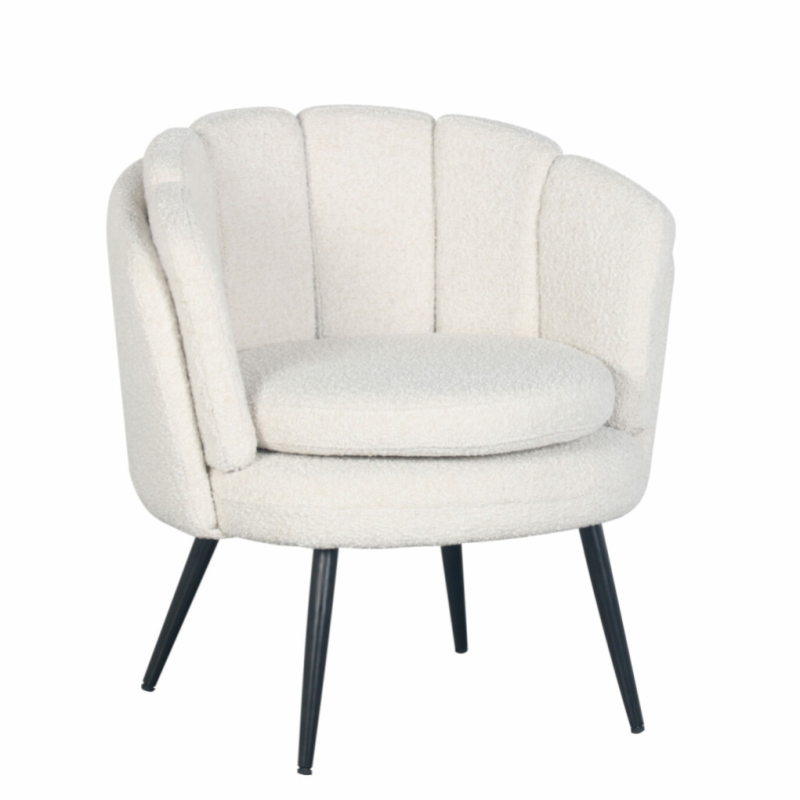 High Five Lounge Chair White Pearl (Boucle) | Pole to Pole