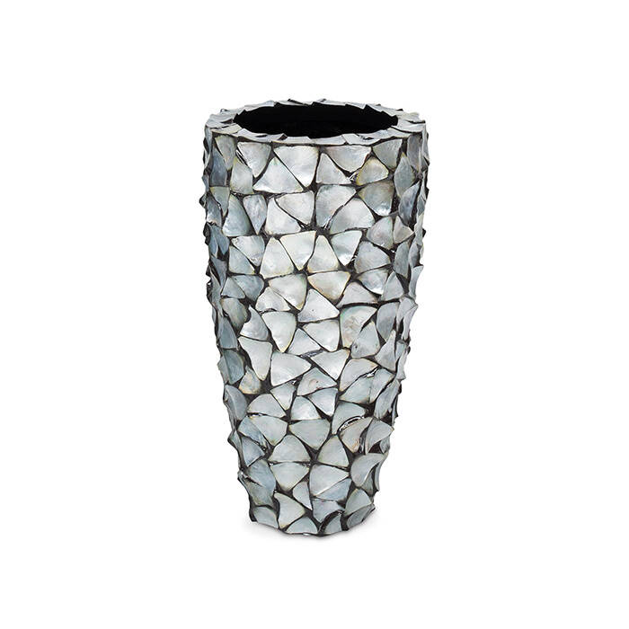 Pot Mother of pearl Silver Ø 40 x H. 77