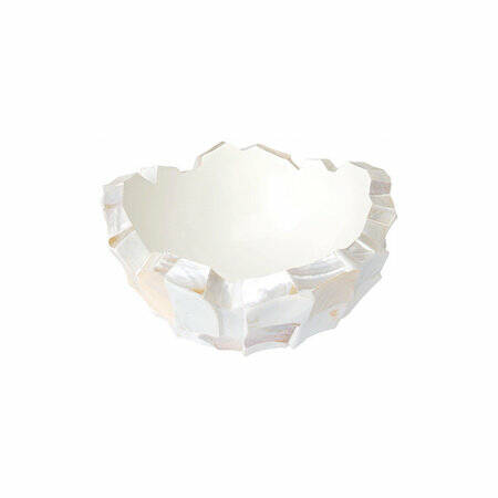 Bowl Mother of pearl Cream Ø 40 x H. 24