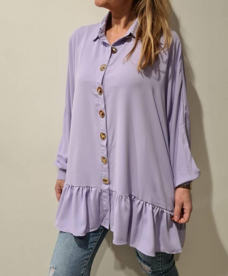 Oversized blouse ruffel
