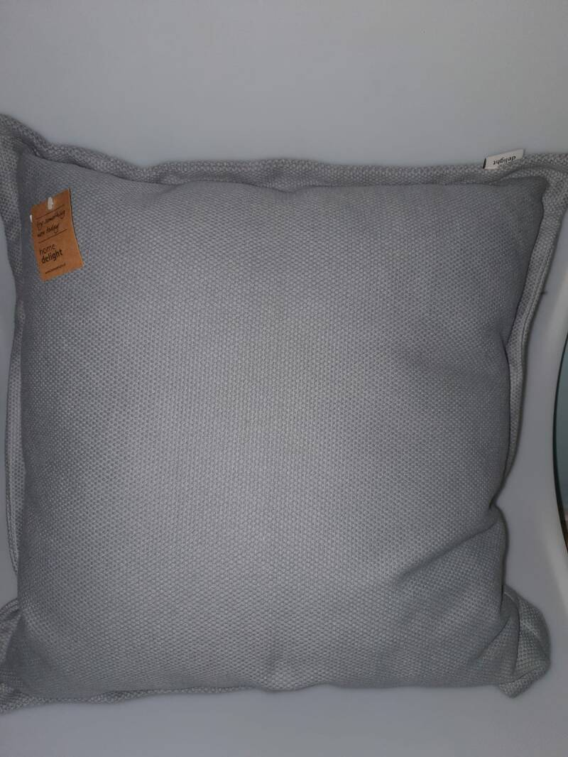 Kussen rough cotton grey