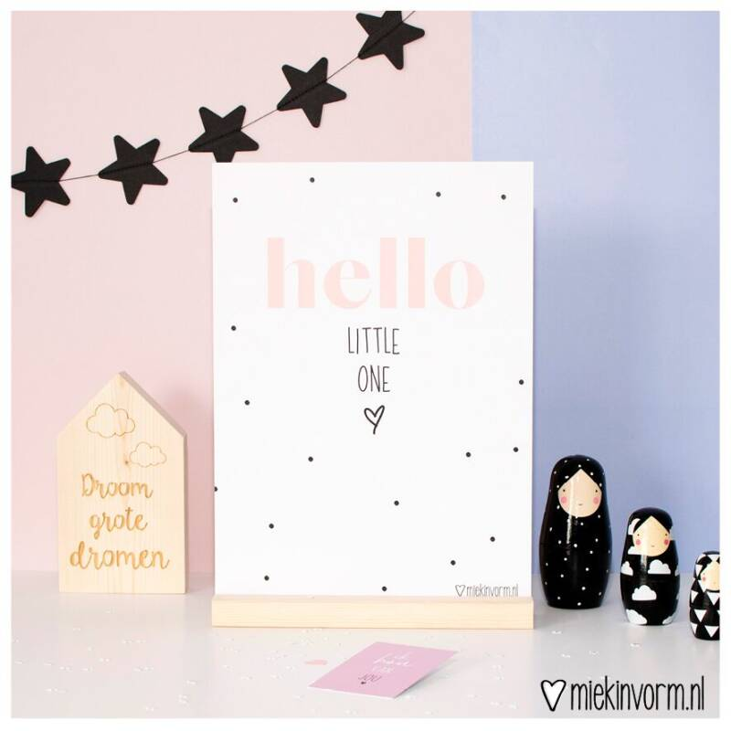 Hello little one | A4 poster MIEKinvorm