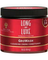 As I am Long&Luxe Gro-wash Cleansing Creme Conditioner 30ml