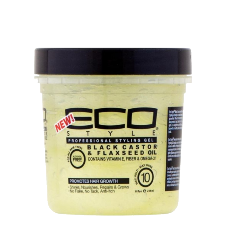ECO Styler Proffesional Styling Gel Black Castor & Flaxseed Oil 30ml