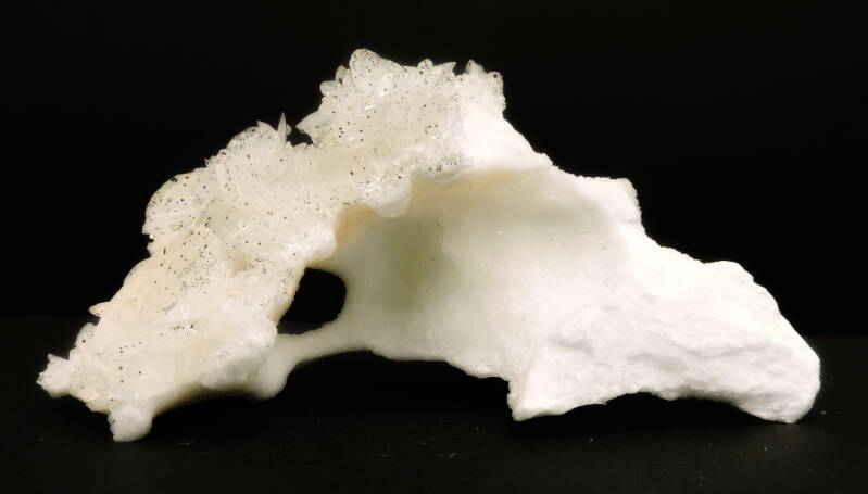 Selenite crystals on alabaster from Spain - cabinet size