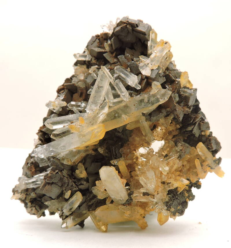 Quartz with siderite from France - miniature