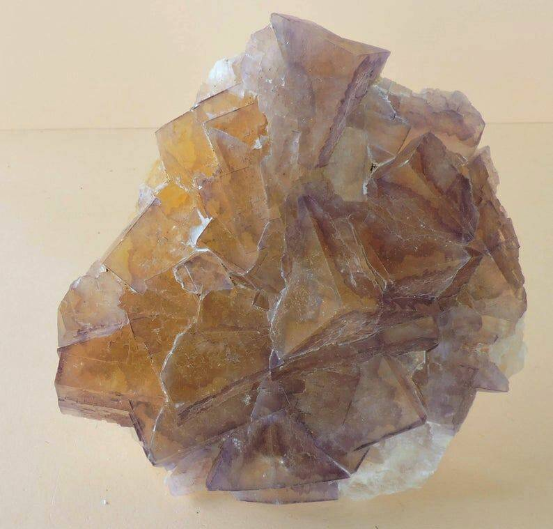Bicolor fluorite from France - cabinet size