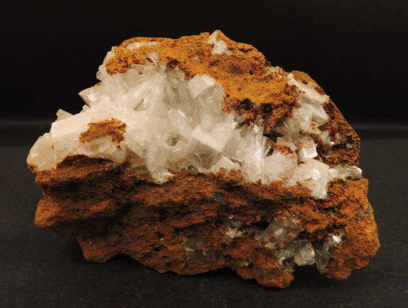 Hemimorphite crystals on limonite matrix from Mexico - cabinet size