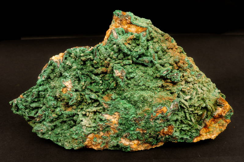 Malachite crystals on matrix from El Fecht, Morocco - large cabinet size