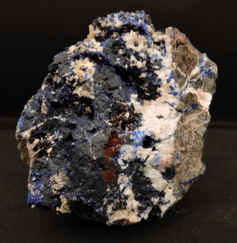 Azurite crystals on matrix from El Fecht, Morocco - cabinet size